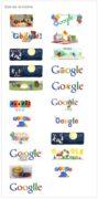 imagem com os doodles de aniversário do Google