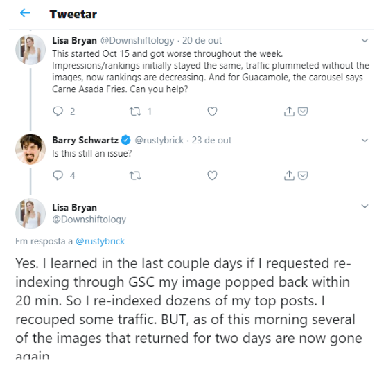 Tweet da blogueira Lisa Bryan