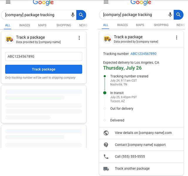 imagem feita pelo google para mostrar a atualização do package tracking