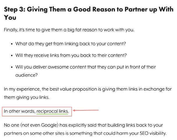 texto com dicas para conseguir links