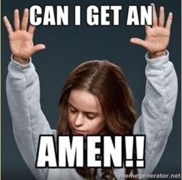 can we get an amen!!